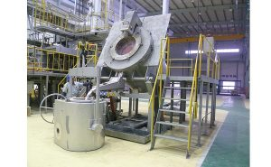 Aluminum and copper gas melting furnace 500 Kg